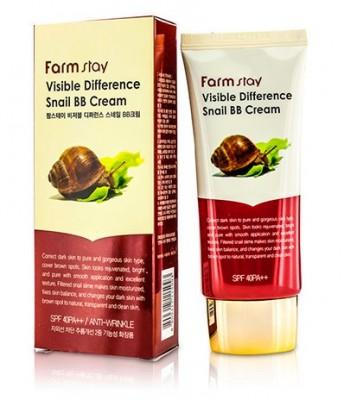 BB-крем с муцином улитки FARMSTAY Visible difference snail BB-cream SPF50+/PA+++ 50 мл: фото
