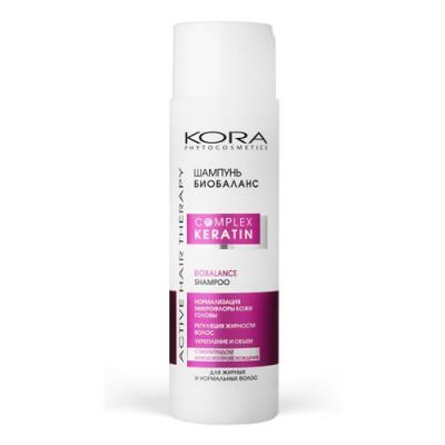 Шампунь биобаланс KORA Phitocosmetics Active Hair Therapy Complex Keratin 250мл: фото