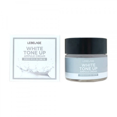 Крем Ампульный, выравнивающий тон лица LEBELAGE White Tone Up Ampule Cream 70мл: фото
