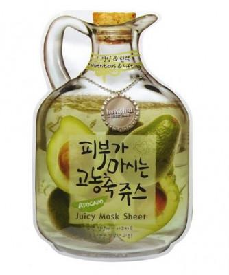 Маска тканевая с авокадо Baviphat Avocado Juicy Mask Sheet Nutritious&Lifting 23г: фото