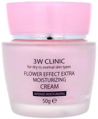 Крем для лица увлажняющий с цветочными экстрактами 3W CLINIC Flower Effect Extra Moisturizing Cream: фото