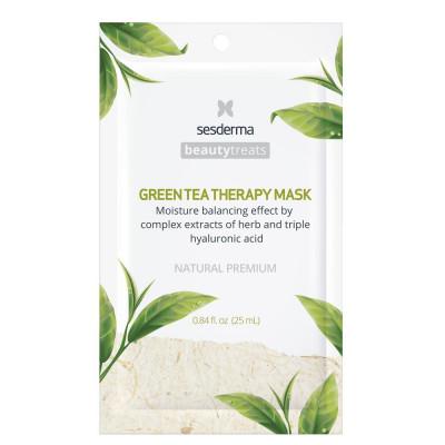 Маска увлажняющая для лица Sesderma BEAUTYTREATS Green tea therapy mask 25мл: фото