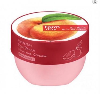 Крем многофункциональный с экстрактом персика FarmStay Real Peach All-in-one Cream 300мл: фото