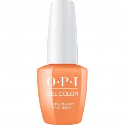 Гель для ногтей OPI GelColor Coral ing Your Spirit Animal GCM88 15 мл: фото