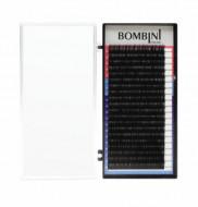 Ресницы Bombini Черные, 20 линий, изгиб D+ – MIX 8-14 0.07: фото
