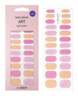 Наклейки для ногтей THE SAEM Nail Wear Art Gel Sticker 01Cream Pink Glitter: фото