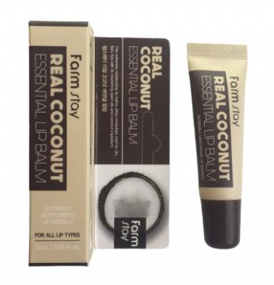 Бальзам для губ с экстрактом кокоса FarmStay Real Coconut Essential Lip Balm 10мл: фото