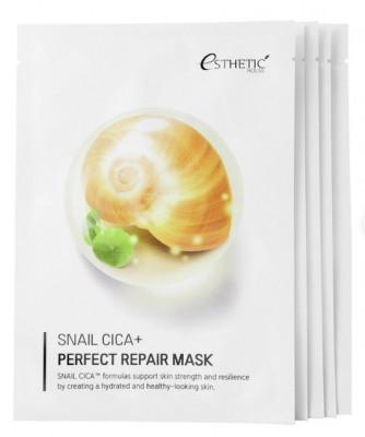 Набор Тканевых масок для лица МУЦИН УЛИТКИ ESTHETIC HOUSE Snail Cica+ Perfect Repair Mask 25 мл*5шт: фото