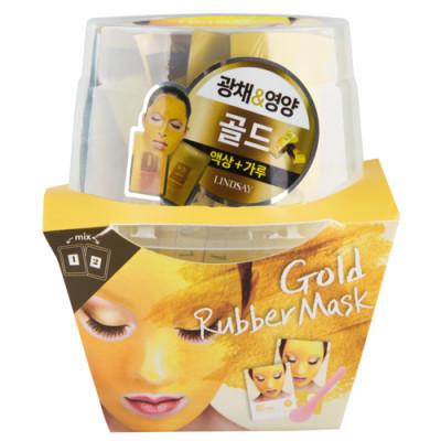 Альгинатная маска c коллоидным золотом (пудра+активатор) Lindsay Gold Rubber Mask 65г+6,5г: фото