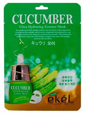 Тканевая маска для лица с экстрактом огурца EKEL Cucumber Ultra Hydrating Essence Mask 25г: фото