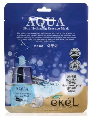 Тканевая маска для лица ультраувлажняющая EKEL Aqua Ultra Hydrating Essence Mask 25г: фото