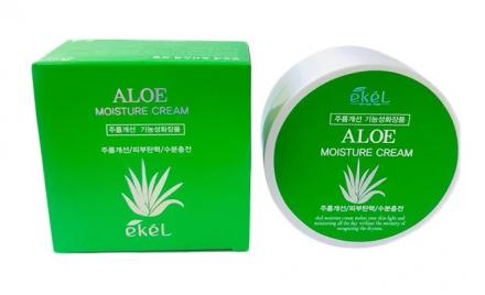 Увлажняющий крем для лица с экстрактом алоэ EKEL Moisture Cream Aloe 100г: фото
