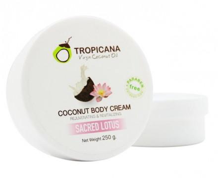 Крем для тела СВЯЩЕННЫЙ ЛОТОС TROPICANA Coconut Body cream Sacred Lotus 250мл: фото