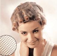 Сеточка-косынка для бигуди мелкая Sibel коричневая: фото