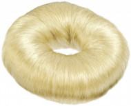 Кольцо для вечерних причёсок (хлопок) 9см Sibel светлое: фото