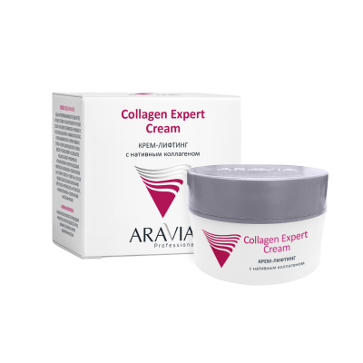 Крем-лифтинг с нативным коллагеном ARAVIA Professional Collagen Expert Cream 50мл: фото