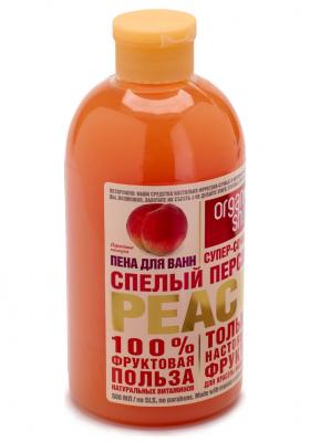 """Пена для ванн Фрукты Organic Shop """"Спелый персик"""" 500мл: фото"""