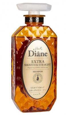 Шампунь кератиновый гладкость Moist Diane Extra smooth & straight 450мл: фото