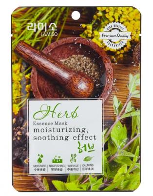 Маска с экстрактом лечебных трав La Miso premium quality essence mask Herb 23г: фото