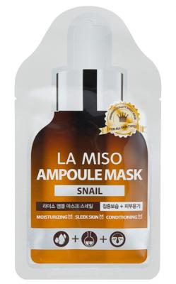 Маска ампульная с экстрактом слизи улитки La Miso Ampoule mask snail 25г: фото