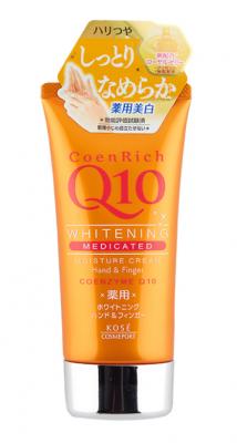 Крем для рук омолаживающий и увлажняющий с коэнзимом Q10 Kose Coen rich Q10, 80г: фото