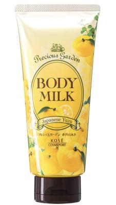Молочко для тела с ароматом юдзу Kose Precious garden body milk japanese yuzu 200г: фото