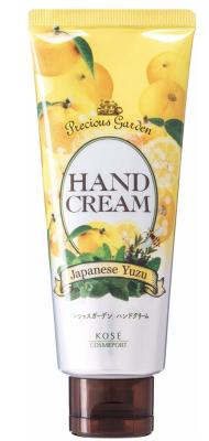 Крем для рук питательный и увлажняющий с ароматом юдзу Kose Precious garden japanese yuzu 70г: фото