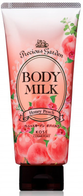 Молочко для тела с ароматом персика Kose Precious garden body milk honey peach 200г: фото