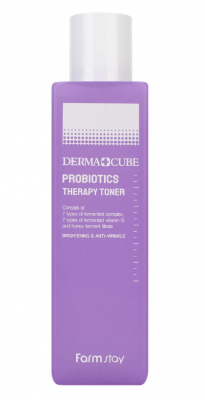 Тонер с пробиотиками восстановление кожи FarmStay Derma cube probiotics therapy 200мл: фото