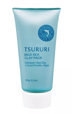 Крем-маска для лица с глиной и водорослями BCL Tsururi mineral clay pack 150г: фото