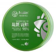 Гель для лица и тела увлажняющий и успокаивающий с алоэ AsiaKiss Soothing gel aloe vera 300мл: фото
